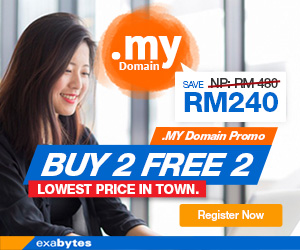 .MY Domain Promo - Buy 2 Free 2 - Lowest Price in Town