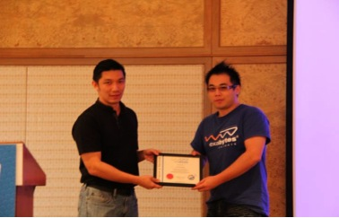 Certificate of Appreciation by Exabytes Network to Mr. Chu Tzu Ming