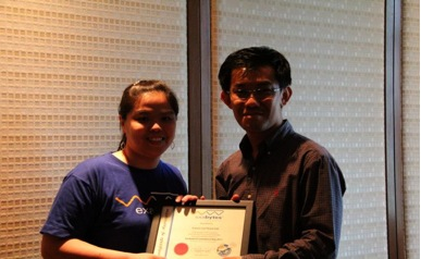 Certificate of Appreciation by Exabytes Network to Mr. Francis Lui