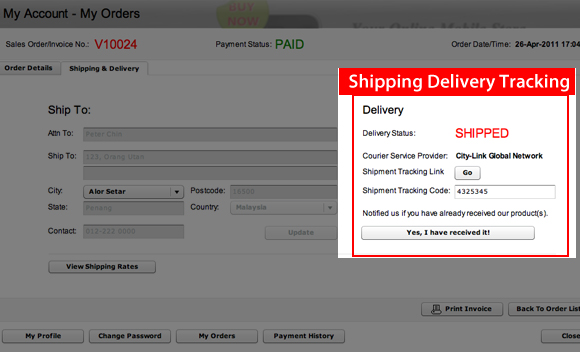 Shipping Delivery Tracking