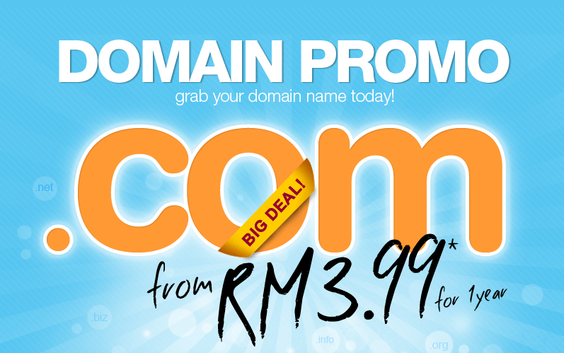 COM Domain Normal Price RM38 Is NOW RM399 ONLY NO Joke