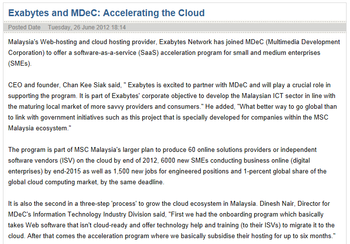 Exabytes and MDeC: Accelerating the Cloud
