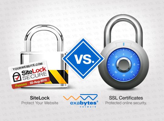 Exabytes - SiteLock vs SSL Certificates