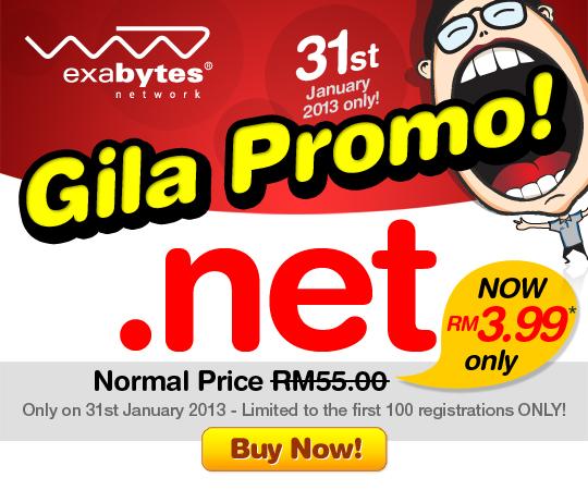 Exabytes .NET RM3.99 Promo
