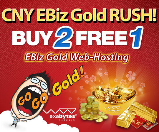 Exabytes Gold Rush Buy 2 Free 1