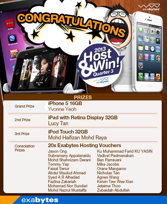 Host & Win Q3 Winner
