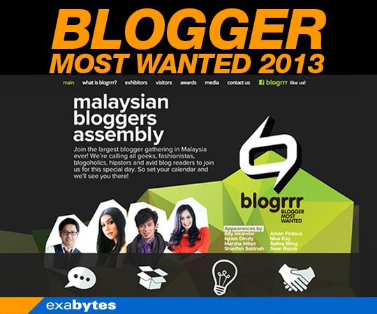 exabytes blogger most wanted 2013