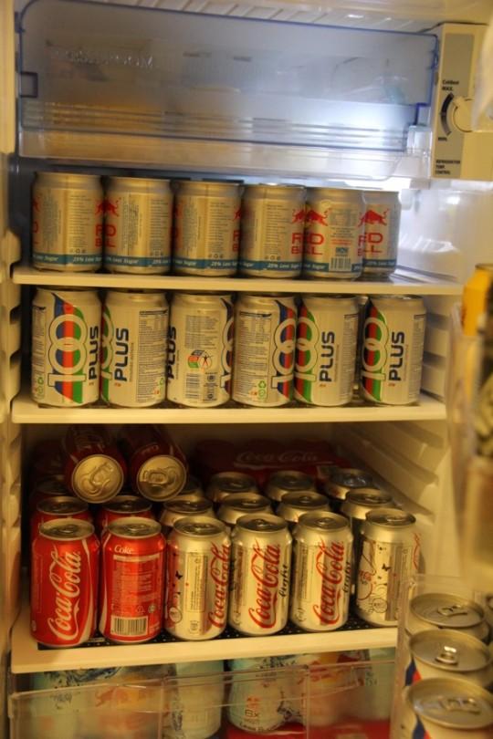 drinks at fridge