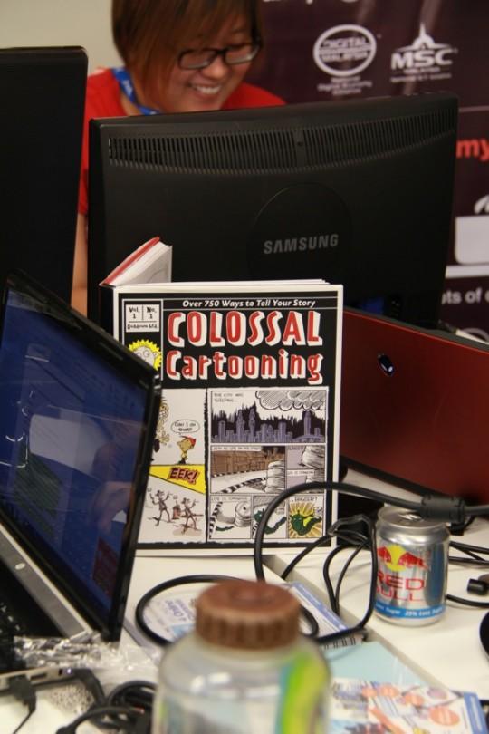 Colossal cartooning book