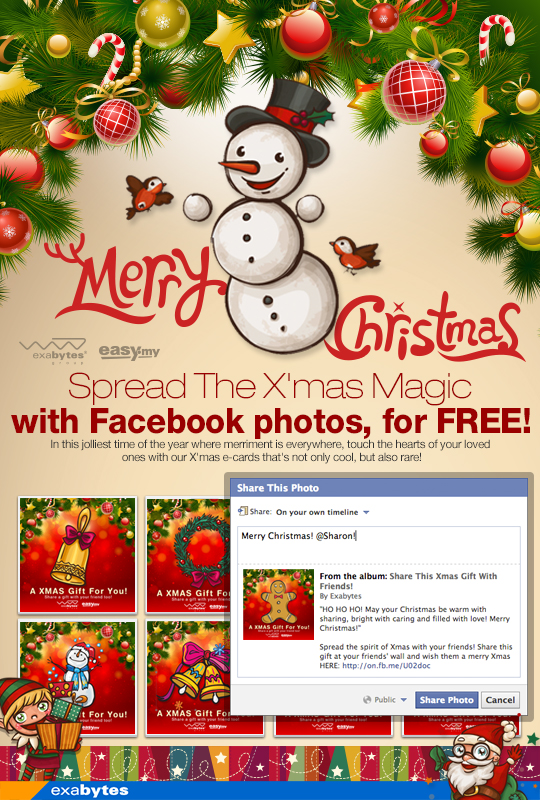 Spread the X'mas Magic with Facebook photos, for free