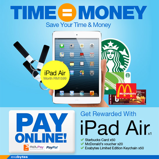 Pay online and get rewarded with iPad Air