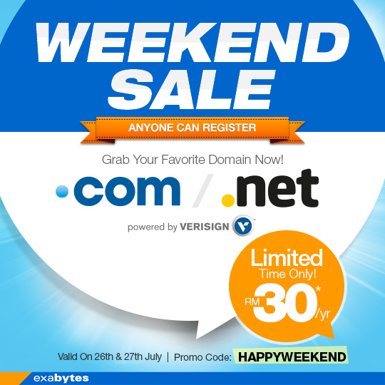 weekend sale for domain name