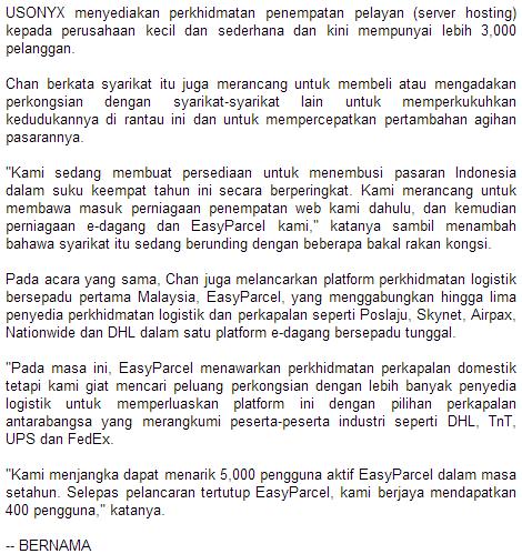 Exabytes Networks Sasar 50 Peratus Pertumbuhan Pendapatan Dalam TK2015