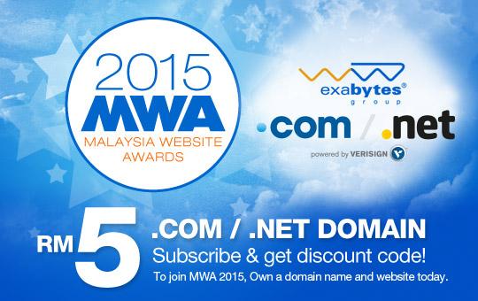 2015 MWA - Malaysia Website Awards