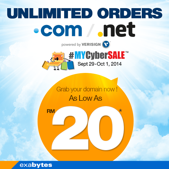 MyCyberSale unlimited order promo