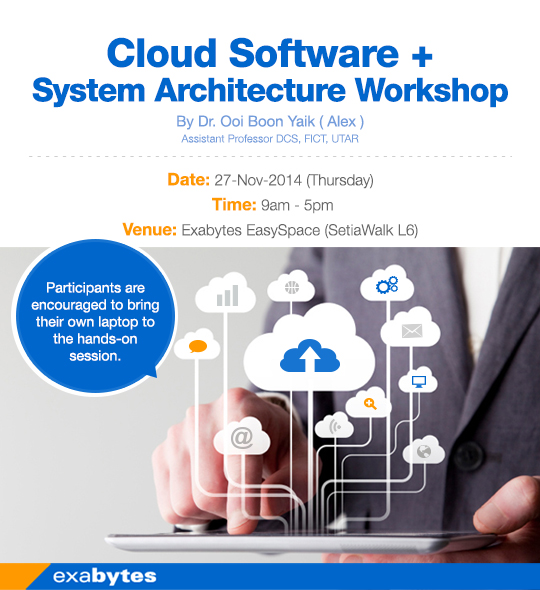 Cloud software + system architecture workshop