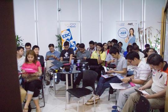 Exabytes Designer Club gathering at Penang Suntech office lobby