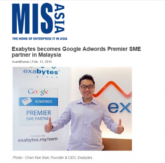 exabytes and google in mis asia