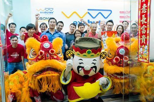 Exabytes Singapore group photo at CNY 2015