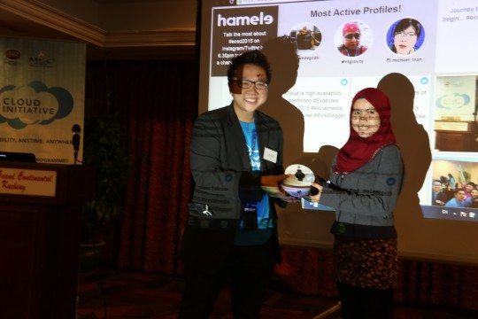 Exabytes Cloud & E-commerce Day lucky draw winner