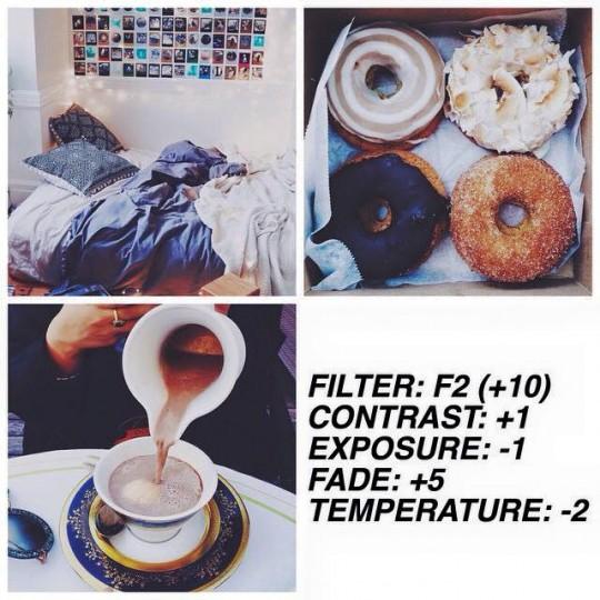 VSCO Cam custom filter setting