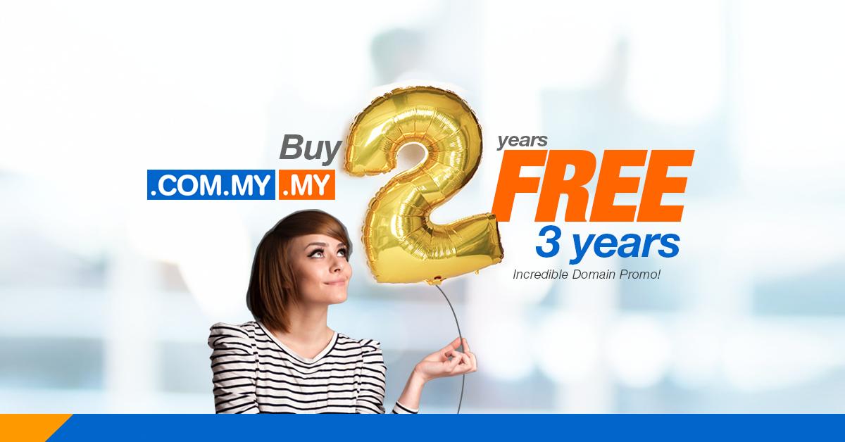buy 2 years free 3 years mynic domain name