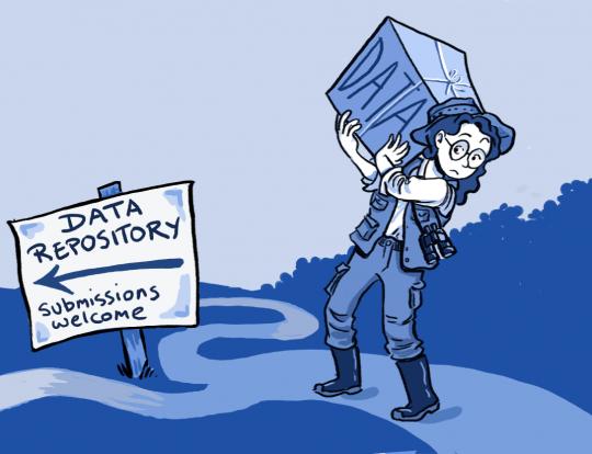 Data repository cartoon