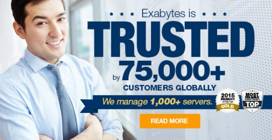 Exabytes is trusted by 75,000 customers globally