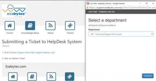 Exabytes helpdesk system