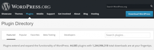 OVER 44,011 Plugin Directory