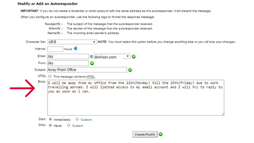 Setting Up an Auto-Responder in cPanel