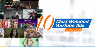 10 Most Watched YouTube Ads in Year 2016