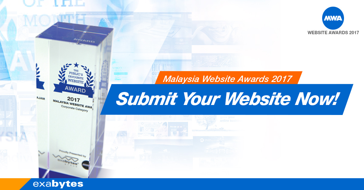 Malaysia Website Awards 2017 - Submit your website now
