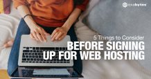 web hosting girl laptop