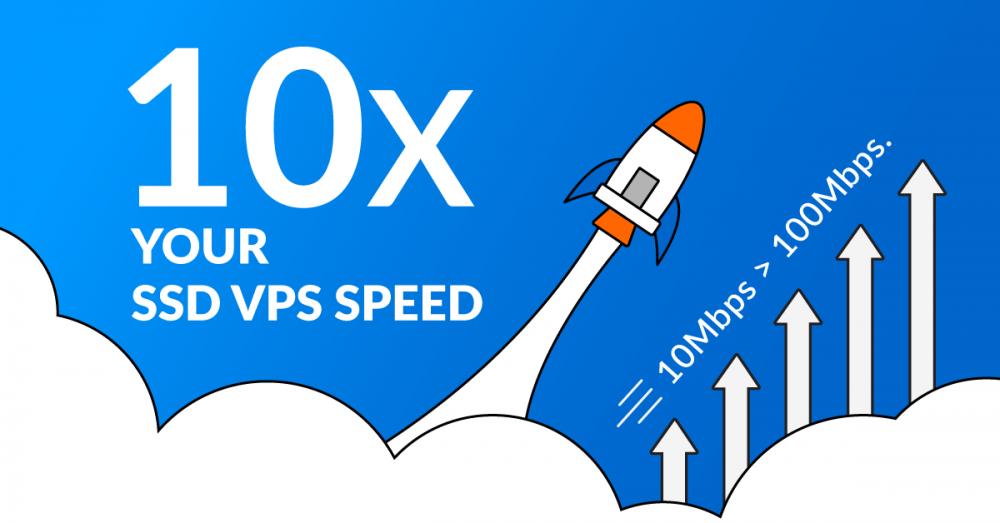 SSD VPS speed 10x