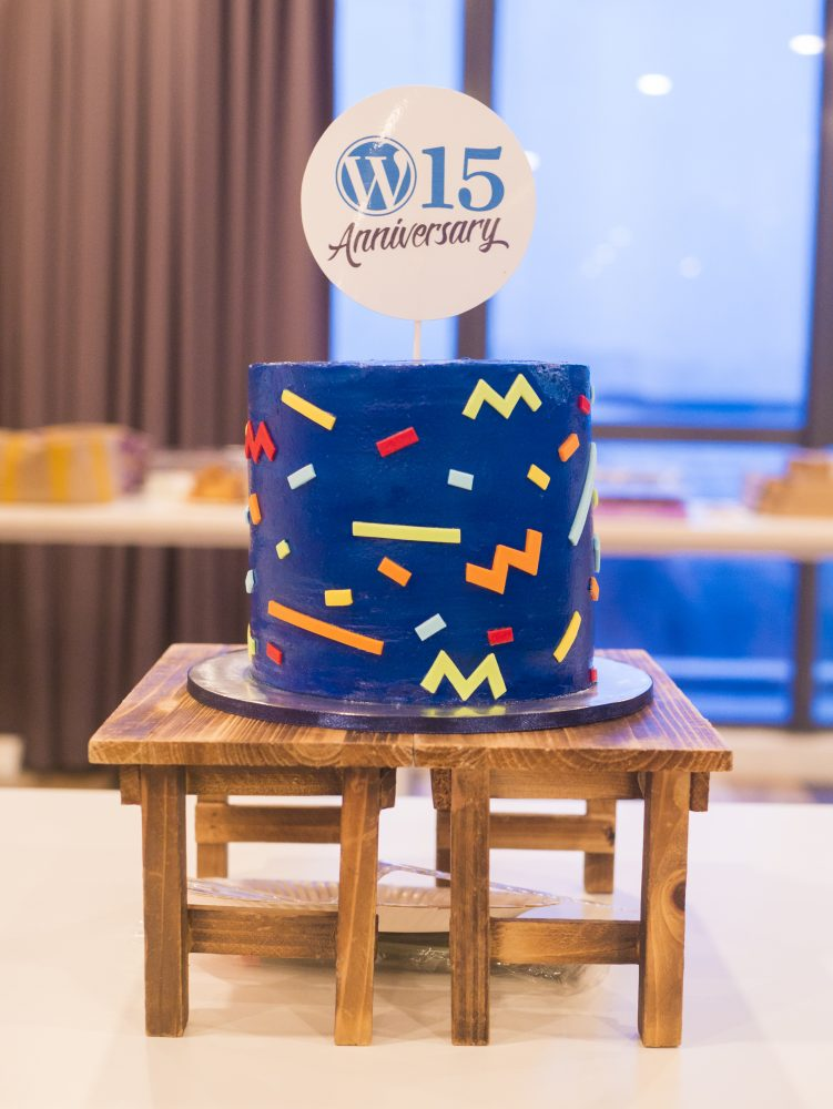15th WordPress Anniversary cake