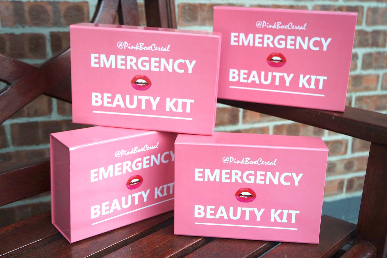 Pinkboxcereal Emergency beauty kit pink box
