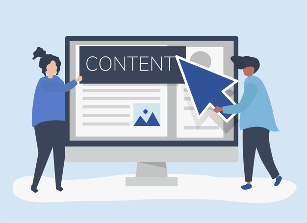 digital content creation concept